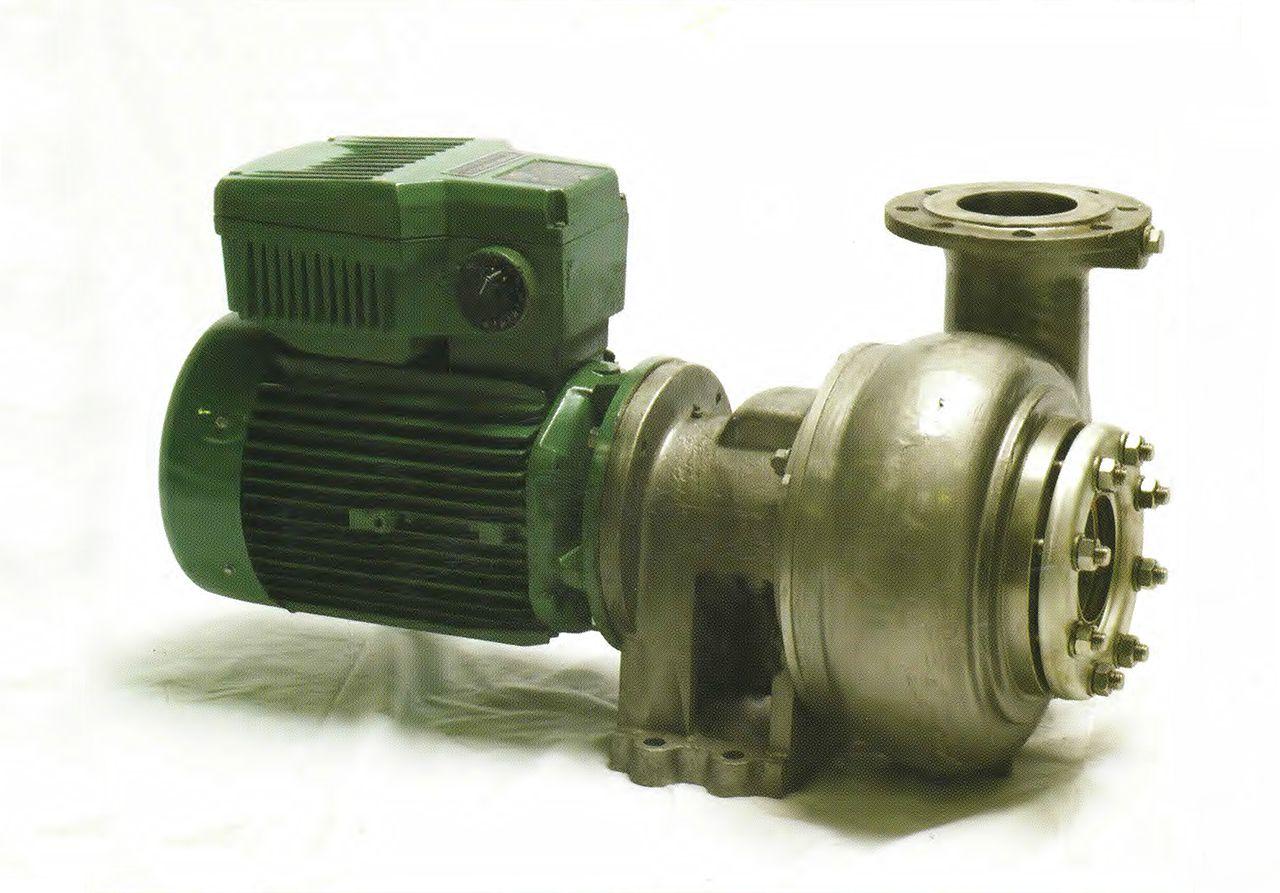 Bomba de trasiego de aceitunas tipo DTM con variador de velocidad incorporado