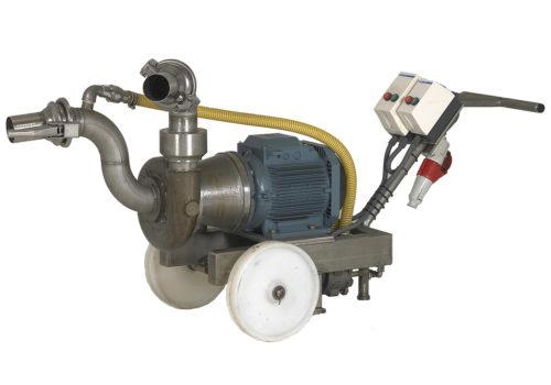 Pompe à auto-amorçage pour le retour et la recirculation de la saumure avec pompe à vide