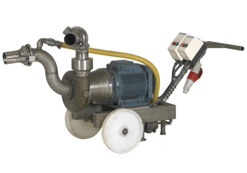 Self suction pumps for the return and recirculation of the brine. Vacuum pump suction